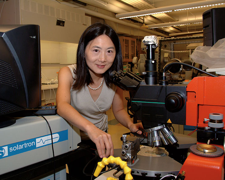 Yang Shao-Horn, an assistant professor of mechanical engineering and member of the MIT Energy Research Council, says fuel cells have real promise for use in cars and trucks. Photo: Ed Quinn