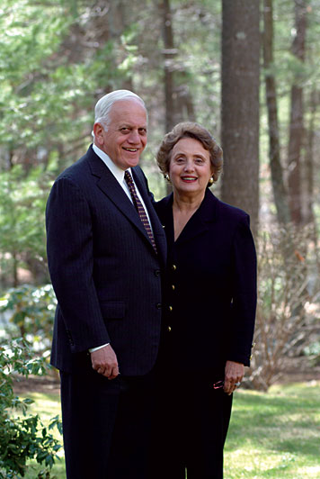 Ted '55 and Mary Papastavros recently established a scholarship to support first-generation college students. Photo: Ed Quinn