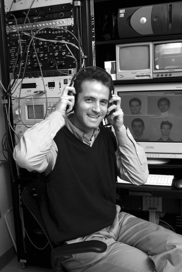 James DiCarlo, assistant professor of neuroscience, explores how our brains recognize people, places, and things. Photo: Ed Quinn