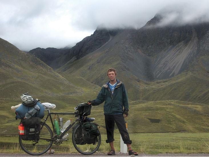 Orian Welling is shown in La Linea, a small village in southern Peru, elevation, 14,000 feet.
