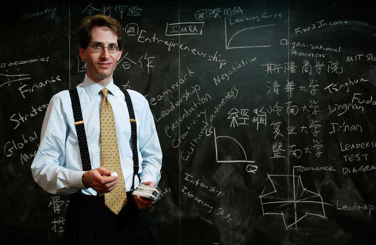 Jonathan Lehrich coached Chinese students on how to land jobs in Western companies. Photo: Len Rubenstein
