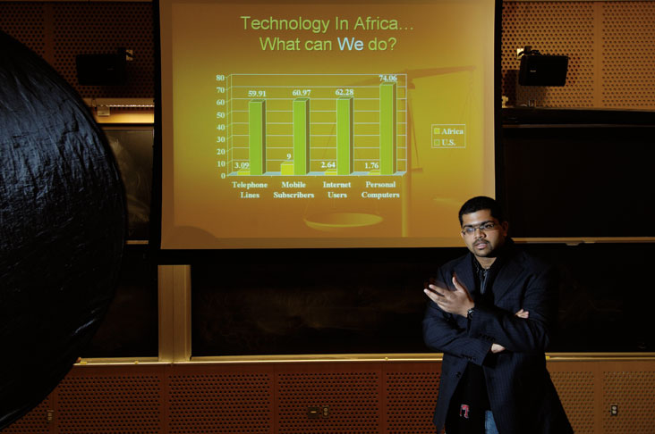 Raja Bobbili taught an MIT class on poverty in developing countries that produced legislation that was approved for use by the entire nation of Zambia.