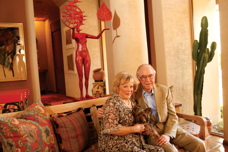 Arlene and Harold Schnitzer say involvement in the arts is key. Photo: David Butow
