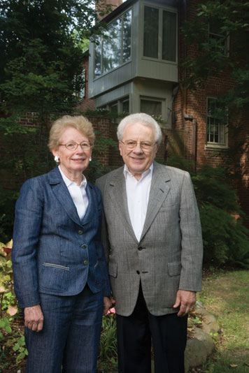 """I have a sense of gratitude for my experience at MIT, and I want others to share the same rewards,"" says Robert Gladstone, who is shown here with his wife, Leslie. Photo: John Harrington"
