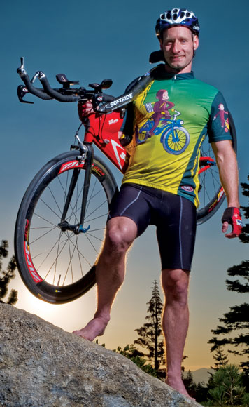 Ray Sidney, an avid cyclist, founded Big George Ventures, a company that focuses on building eco-friendly housing in Carson Valley, Nevada. Photo: Marc Longwood