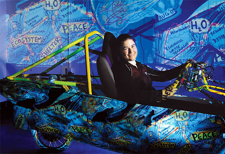 Anna Jaffe launched a project to build a new fuel-efficient vehicle. Photo: Len Rubenstein