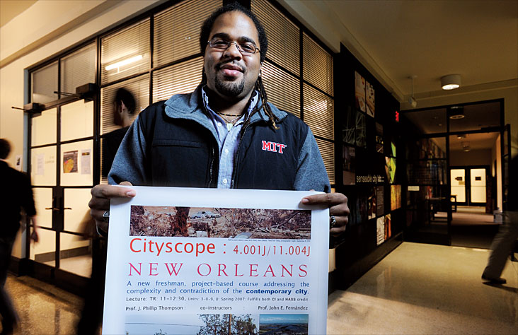Tai DaCosta worked in New Orleans through an MIT course centering on cities at risk. Photo: Len Rubenstein