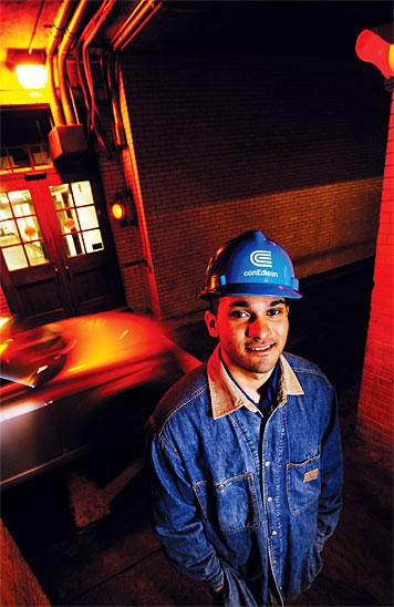 Ricky Ramsaran landed an internship at Con Edison in New York. Photo: Len Rubenstein