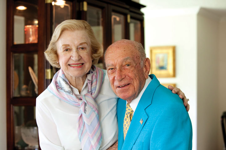 Doris and Donald Berkey establish a professorship to support brain research. Photo: Jay Carlson