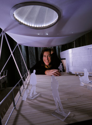 Sheila Kennedy has developed curtains that can power a laptop or illuminate a room at night. Photo: Len Rubenstein