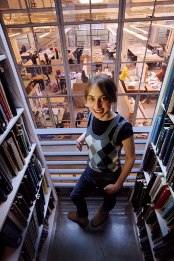 Anna Kotova, who was raised in a standard apartment complex, dreams of creating unconventional housing.  Photo: Len Rubenstein