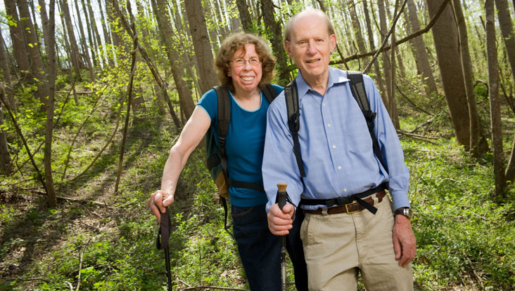 Audrey Buyrn and Alan Phillips invite partners to help protect and preserve the Earth. They will match others' contributions dollar for dollar up to $500,000.  Photo: Sam Kittner