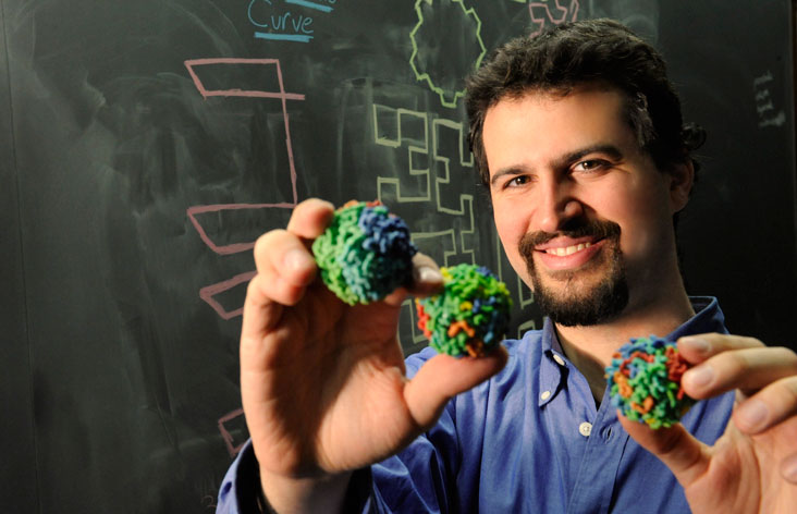 Erez Lieberman-Aiden's work helps to solve the mystery of how the human genome folds up to fit into the nucleus of a cell. The innovation will help scientists better understand diseases.  Photo: Richard Howard