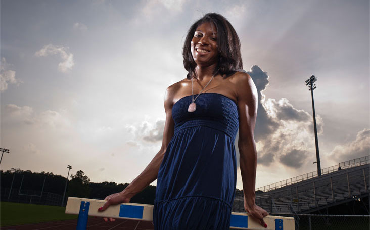 Portia Jones grew up in Queens, NY, climbing fences and trees, roller skating, playing tag and hide-and-seek, dancing hip hop, and running track.  Photo: Cliff Owen