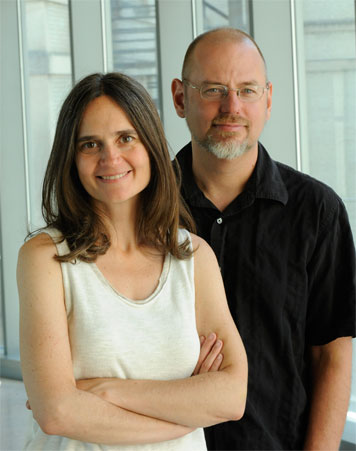 Profs. Heather Paxson and Stefan Helmreich launched <i>Sensing the Unseen</i> — a yearlong seminar that explores the invisible world. Not obvious to the eye is that they are married.  Photo: Richard Howard