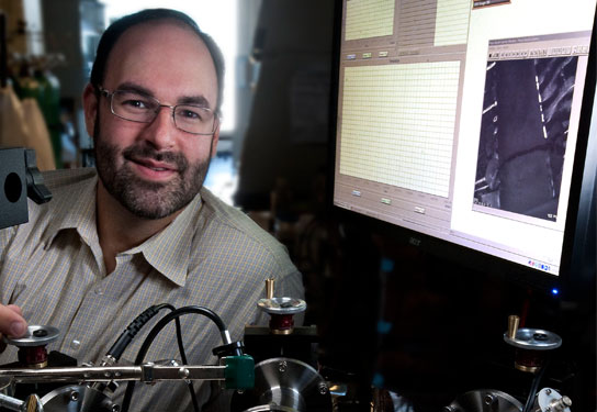 Michael Strano is working on applications that include new approaches to solar energy, novel water purification systems, and a tattoo that could change how diabetics monitor the disease.  Photo: Len Rubenstein