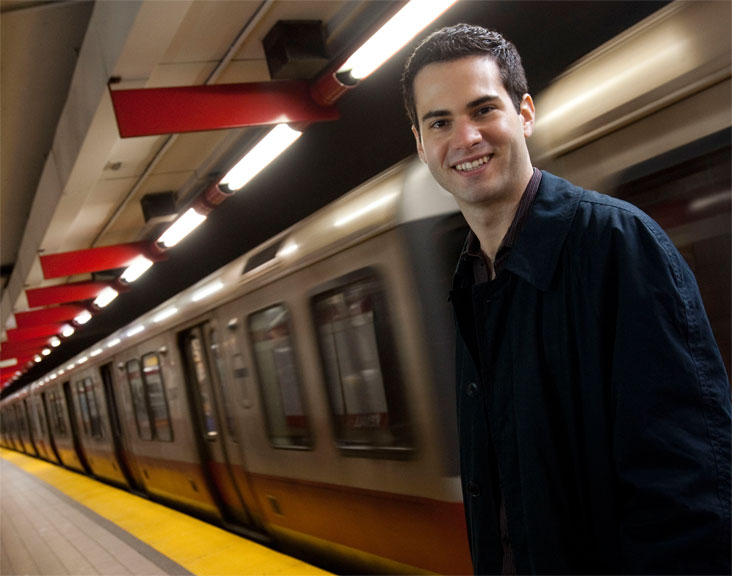 Gabriel Sanchez,  who often travels on foot, plans to redesign public transportation systems for people around the world. Photo: Len Rubenstein