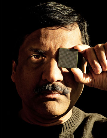 Anant Agarwal is putting the equivalent of a data center on a chip.  Photo: Len Rubenstein