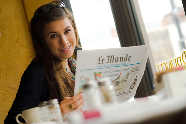 Sara Ferry worked in Paris at Areva, a nuclear energy company. Photo: Len Rubenstein