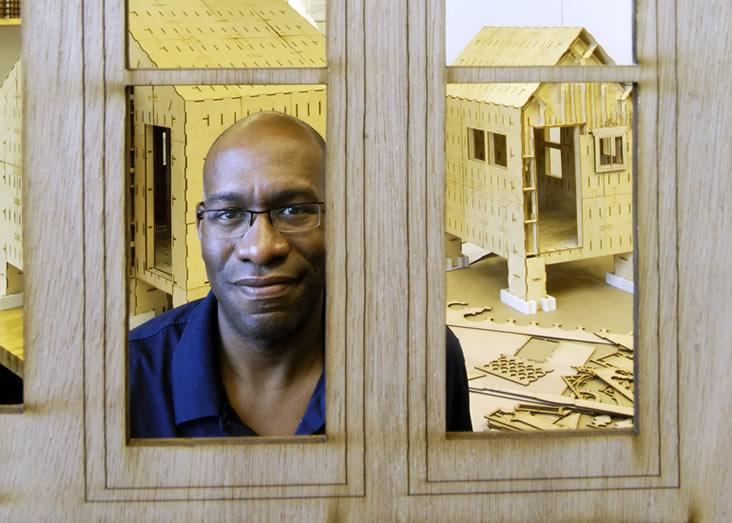Prof. Larry Sass's dream is to empower people to build their own neighborhoods. Photo: Len Rubenstein