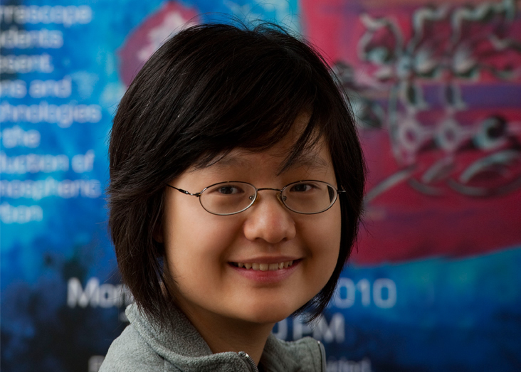 Wennie Wang collaborated with 54 students for one year to help solve the problem of rising levels of carbon dioxide. Photo: Len Rubenstein