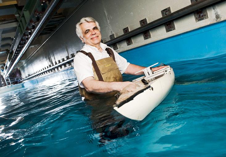 Michael Triantafyllou is giving vessels fish-like perception.  Photo: Len Rubenstein