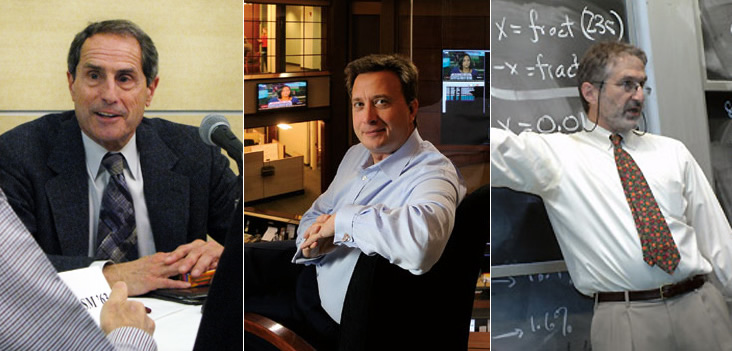 Left: Doug Spreng. Photo: Amy Marcott; Middle: Arunas Chesonis. Photo: Len Rubenstein; Right: Prof. Robert Jaffe. Photo: Donna Coveney