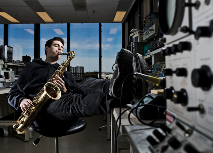 Dylan Sherry is jazzed about music and artificial intelligence. Photo: Len Rubenstein