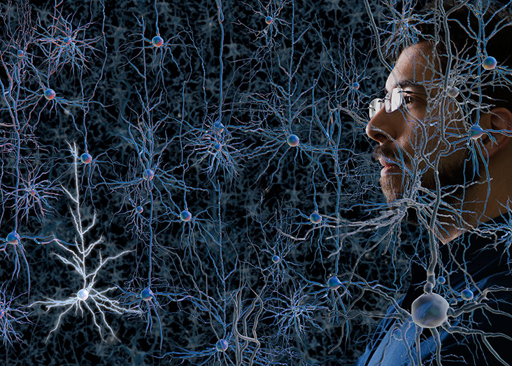 Ed Boyden aims to build tools to help solve the mystery of the brain. Photo illustration: Len Rubenstein