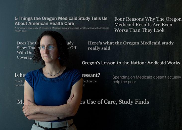 Amy Finkelstein, an MIT economist, is principal investigator of the groundbreaking Oregon Health Insurance Experiment. Photo: Len Rubenstein