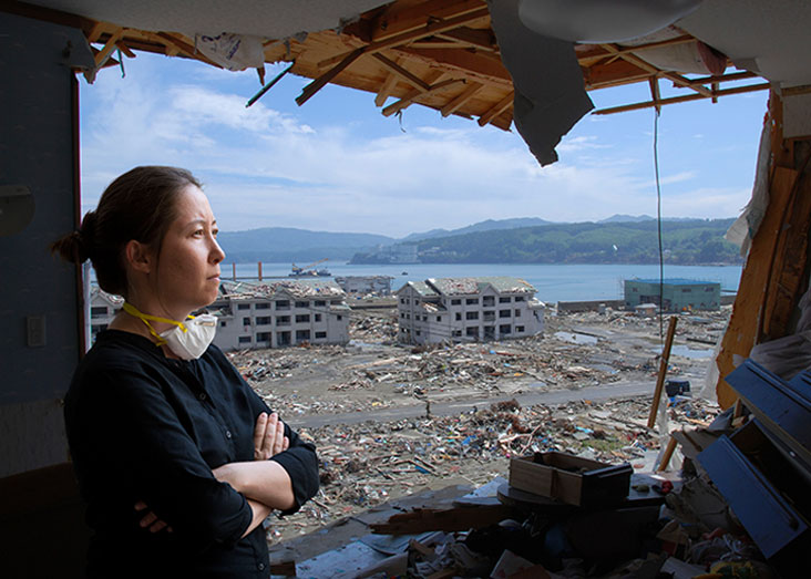 Miho Mazereeuw designs a plan to guard against floods, earthquakes, tsunamis, and typhoons. Photo Illustration: Len Rubenstein