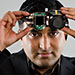 Ramesh Raskar, who as a child wished for eyes in the back of his head, invents a camera that can see around corners. Photo: Len Rubenstein