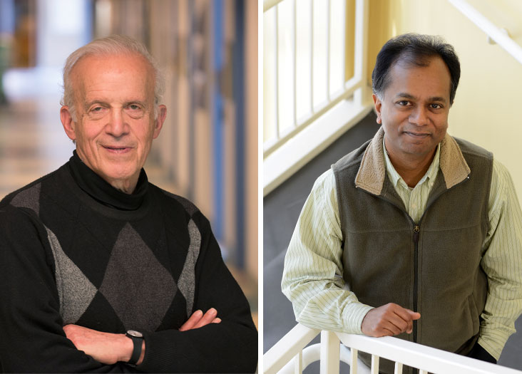 (L) Dan Kleppner invented an atomic clock now at the heart of the GPS. (R) Ram Sasisekharan holds 85 patents and launched three biotech companies. Photo: Richard Howard