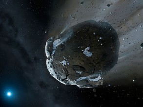 Artist rendering of asteroid