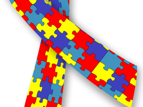 Autism Awareness ribbon, via Wikimedia Commons