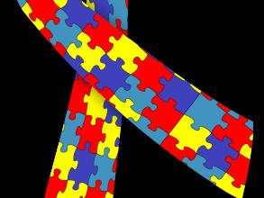 Autism Awareness ribbon, via Wikimedia Commons