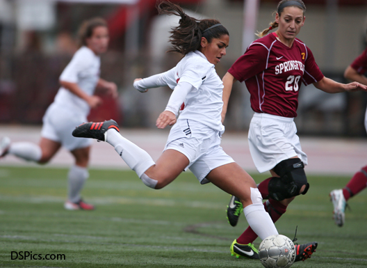 Ambika Krishnamachar '15 was named NEWMAC Athlete of the Year for the second consecutive year. Image via MIT Athletics.