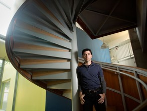 Manolis Kellis led the effort to integrate and analyze the datasets produced by the National Institutes of Health's Roadmap Epigenomics Consortium project. Image: M. Scott Brauer
