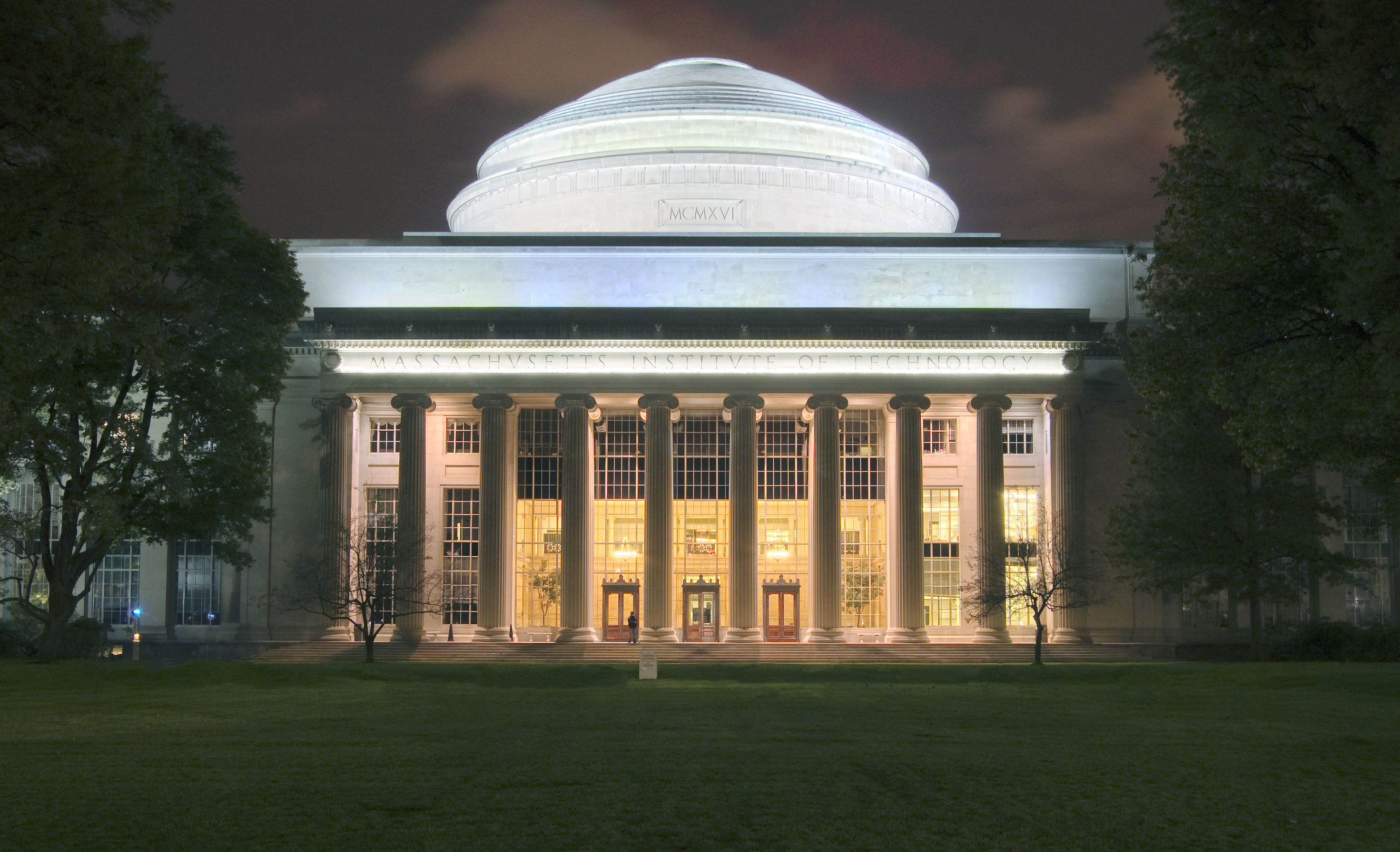 MIT Dome at night