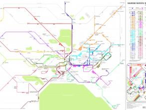 Using GPS data, researchers have created a map of the Matatus bus system in Nairobi, Kenya. Image: MIT Civic Design Data Lab/Digital Matatus project.