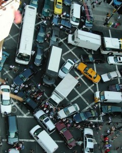 Photo: gridlock in New York City