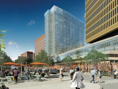 Kendall Square rendering by Encore: courtesy of Elkus Manfredi Architects