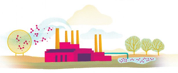 illustration of a power plant