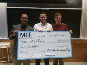 The WellDone team took first prize at the 2015 inaugural MIT Water Innovation Prize. Image: Courtesy MIT Water Club
