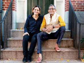 Esther Duflo PhD '99 and Abhijit Banerjee shared the 2019 Nobel Prize in Economics. Photo: Bryce Vickmark