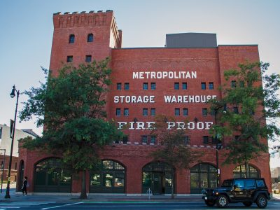 Located at the corner of Massachusetts Avenue and Vassar Street, the Metropolitan Warehouse opened in 1895 as a storage facility and was added to the National Registry of Historic Places in 1986. Photo: Jose-Luis Olivares/MIT News