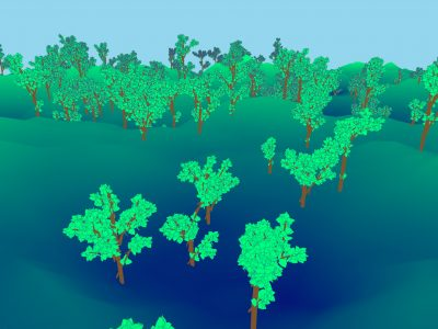 "Christopher ""Jack"" Blazes '22 used the skills he learned in 6.837 to computer-generate a variety of trees. Image: Courtesy of Blazes"