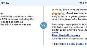 Screenshot: Amazon.com customer reviews