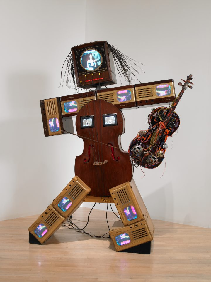 Nam June Paik: Charlotte Moorman II, 1995. Courtesy of Rose Art Museum, Brandeis University, Hays Acquisition Fund.