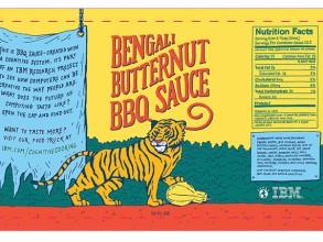 Bengali Butternut BBQ sauce label